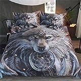 HTST Animal Print Duvet juego de cama, juego de dormitorio 3D, ropa de cama 3pcs, 1 cubierta de...