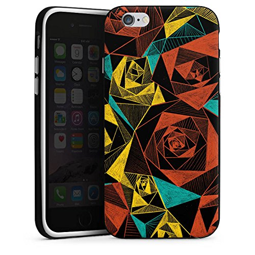 Apple iPhone X Silikon Hülle Case Schutzhülle Rosen Muster Rose Silikon Case schwarz / weiß