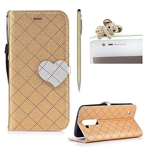 skyxd LG K7/K8Bookstyle Schutzhülle Box, Design Folio Leder Case Flip Liebe Magnet Verschlüsse für LG K7/K8Schutzhülle Brieftasche Tür Karten Kreditkarte mit durchgehendem Halterung Silikon TPU case cover (Brieftaschen Animal-style)