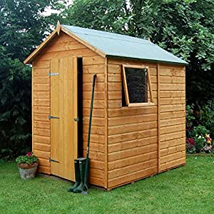 Premier shed 7x5 wooden apex garden shed with opening for Garden shed 7x5