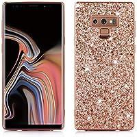 Nadoli Glitzer Hülle für Galaxy Note 9,Roségold Weich Bling Slim Fit Tasche Handyhülle Skin Bumper für Samsung... preisvergleich bei billige-tabletten.eu