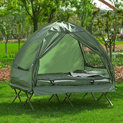 SoBuy® ... & SoBuy® OGS32-L-GR 2 Person Foldable Camping Tent with Bed Air ...