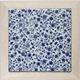 Mino baldosas gama de porcelana (sostenedor de madera) Suite de flor (azul) rt035 (jap?n importaci?n)