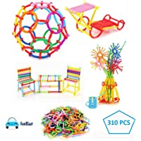 FunBlast Building Block Toy for Kids, Creative Educational Toys - Do It Yourself – Geometric Block Building and Construction Toys - Big Size - 310 Sticks