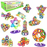 Desire Deluxe Magnetische Bausteine XXL Set Teilen für Kinder ab 2 3 4 5 6 7 8 Alter Jahren, ideales Lernspielzeug für Mädchen Jungen Koordination und zum Bauen in Geschenk-Box