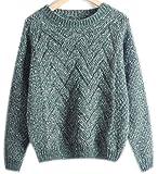 Mohair Sweater Grobstrick Pullover Zopfpullover Damen Sweatjacke Sweaters Winterpullover Schicke Mantel Frauen Pullover Herbst Winter Grün