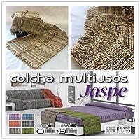MONSERRAT Colcha multiusos/Cubre sofás/Sobrecamas y colchas/Manta C/Dibujos para sofá 3 plazas o cama 135-150cm (220 x 260 cm, Jaspe Marrón)