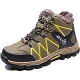 أحذية فولاذية تو أحذية سلامة العمل الشتاء الدافئة غير زلة المشي عارضة الكاحل أحذية في الهواء الطلق نعل خفيف الوزن للرجال والن