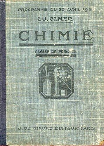 Chimie - Classe de première. Quatrième édition.