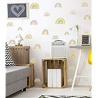 Sticker Mural Arc-en-ciel Colorée,Créatif Autocollant Mural Goutte de Pluie,Arc-en-ciel Pluie D'art Mural pour Chambre…