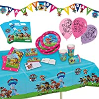 tib 19719 Paw Patrol Girl Party Suitcase Set of 51 Pieces, Multicolour, One Size