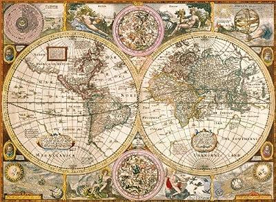 Clementoni - Puzzle de 3000 piezas con diseño Mapa Antiguo (33531.2) por Clementoni