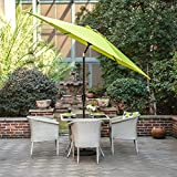 Gartenschirm mit Dreh-Kipp-Mechanismus Kurbelschirm Sonnenschutz UV-Schutz Sonnenschirm Ø 270CM