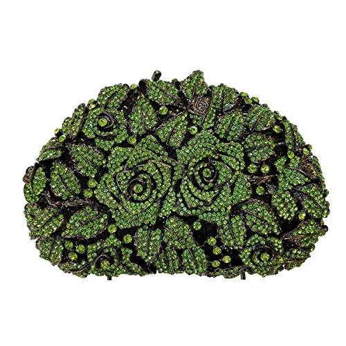 Borse Da Sera Delle Donne Di Cristallo Di Alta Qualità Diamante Borse Green