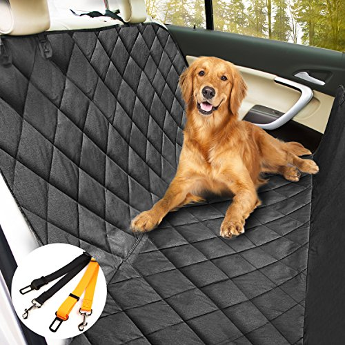 morpilot Dog Car Cover, Universal Slip-Resistant Non-Slip Pet Seat Cover, Car Seat Protector, 2 Safety Belts Included