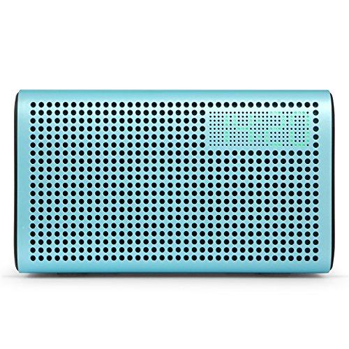 GGMM E3 Multiroom Lautsprecher Wi-Fi/Bluetooth, Airplay 20W Stereo Sound, LED Uhr/Wecker - Blau