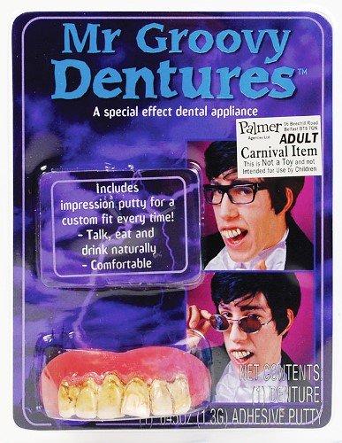 1960er 1970er Austin Powers Groovy Zähne Fancy Kleid Zubehör