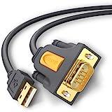UGREEN 20210 Cable USB RS232 DB9 Puerto Serie 9 Pin, Adaptador Cable RS232 a USB Conversor, USB a Puerto COM para Telescopio,