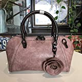 ZHANGJIA Retro - Damen - Taschen, Damen - Lange, Taschen, Blumen, einheitlichen Schulter ranzen Mode - Handtaschen,Taro Lila Nagel
