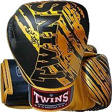 Guantes de boxeo gemelos, cuero, TW2, Negro-Oro, todo el año, color , tamaño 300 ml