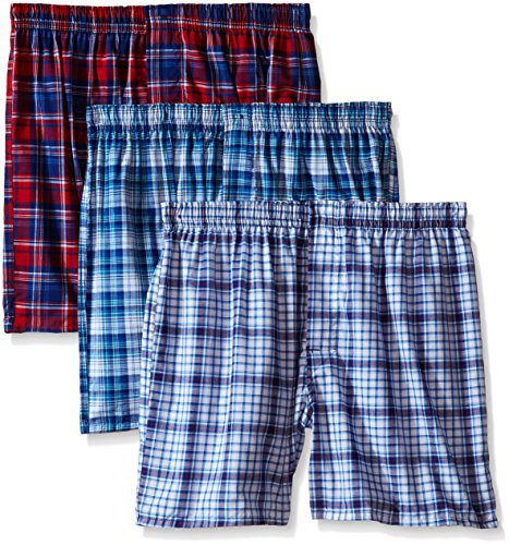 Hanes Men's ComfortBlend® Woven Boxers with Comfort Flex® Waistband