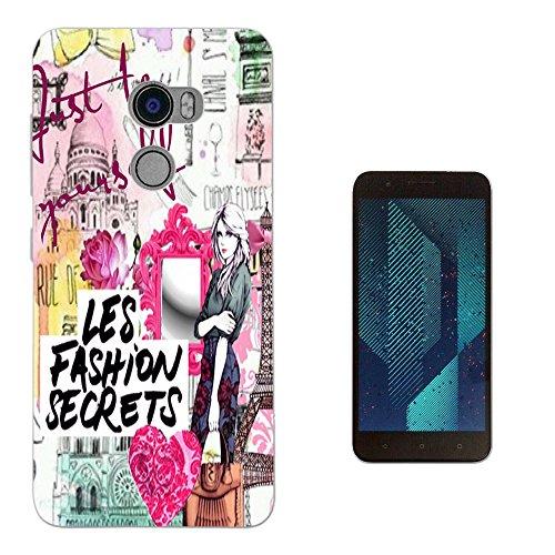003215 - Fashion Rome Paris girl hearts collage be yourself Design HTC One X10 LTE-A (HTC E66) Fashion Trend Silikon Hülle Schutzhülle Schutzcase Gel Rubber Silicone Hülle