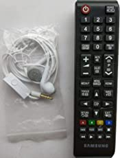 Samsung LED/LCD Remote Control Works with All Samsung LED/LCD TV (Free Samsung Original Earphone)