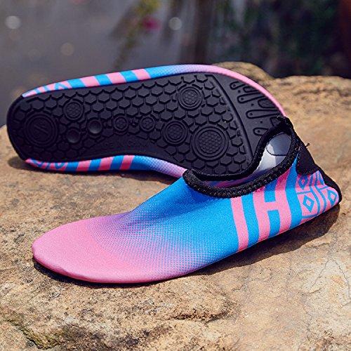 Unisexe Chaussons pour Sport Aquatique Chaussures de Surf Plage Natation Plongée Yoga Rose