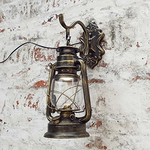 OOFAY Wall Light@ Personnalité Nostalgie Applique Murale Vintage Allée Inn Lanterne Antique Kérosène Lampe pour Bar Salon Patio Couloir Décoration Murale,A