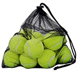 12 Pack Tennisbälle, OMorc Tennisbälle Fort Tournament, Tennis practice ball mit Mesh Tragetasche, ideal für Tennis-Unterricht, Praxis, Wurfmaschinen und spielen mit Haustieren