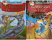 The Dragon Prophecy: The Fourth Adventure in the Kingdom of Fantasy: 4 (Geronimo Stilton) + The Volcano of Fir