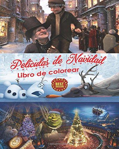 Películas de Navidad Libro de colorear Arte del estrés Dibujos creativos gratuitos para colorear Personajes de A Christmas Carol, Polar Express, Shrek the Halls y Frozen para compartir en familia