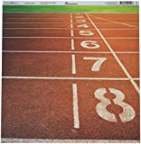 """New! Track & Field Double-Sided Cardstock 12""""X12""""-Running Lanes - Case Pack of 25"""