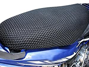 Vheelocityin Motorcycle/ Scooty Net Fabric Seat Cover