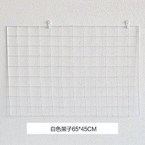 Decorativo griglia ferro parete foto ,65*45 [bianco]