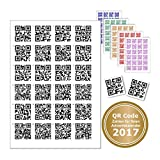 24 Sticker with QR Code For Every Job or Text. Code with Rake for finding the right Door Chens – Advent Calendar QR-Codes schwarz