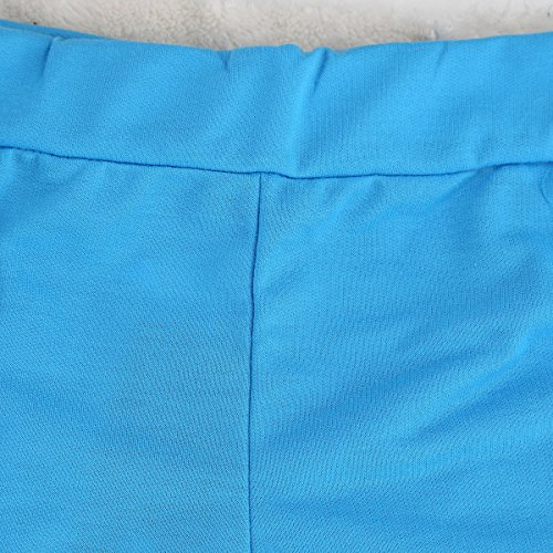 JNTworld Damen Lose Beiläufige Bequem Mini Active Hotpants Strand Shorts Hose Blau