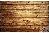 matches21 Fußmatte Fußabstreifer Essence Dunkles Holz Holzoptik Holzbretter 40x60x0,5 cm Rutschfest maschinenwaschbar