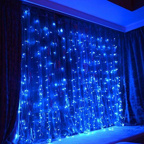 WYBAN 3 x 1M 144 LEDs Blau Lichterkette Helles Lichterkette Außenbeleuchtung für Gartendekorationslichter/Park/Hochzeit /Partei / Innen und Außen Deko (3X1M Blau)