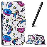 Slynmax Housse iPhone 5S,Coque iPhone 5/5S/SE, Candy Licorne Case de Fleur Bumper...