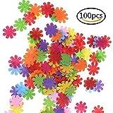 welecom 100Stück Filz Blumen Stoff Verzierungen für DIY Handwerk, verschiedene Farben