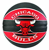 Spalding NBA Team Chicago Bulls Basketball Ball, Schwarz/Rot, 5
