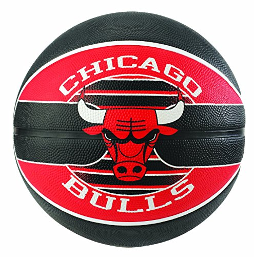 Spalding NBA Team Chicago Bulls Ballon de Basket Mixte Adulte, Multicolore, 7