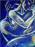 Posterlounge Forex-Platte 120 x 160 cm: Liebhaber -Nacht der Leidenschaft 1 von Carmen Tyrrell