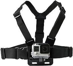 yantralay GoPro Adjustable Chest Strap Mount Body Belt Harness for Action Cameras (Black)