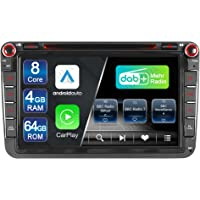 Junhua Built-in DAB+ Android 10 Autoradio für VW Golf 5 6 Touran Polo Radio 64GB 4GB 8 Core mit Navi Unterstützt…