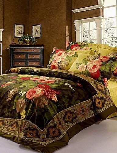 GAOL, vierteilige Anzug,schöne Blume neue Bettwäsche-Sets Bettwäsche-Sets 3D-Muster Ankunft Luxus, Queen-Size , queen -