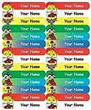 #4: Personalised, Waterproof Mini School Name Labels - Superheroes Design - 36nos