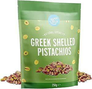 Marchio Amazon - Happy Belly Pistacchi geci sgusciati, 250g