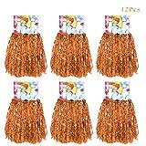 Creatiees 1 Douzaine Prime Cheerleading Pompons, 12 Pièces Main Fleurs Majorette Pompons pour des Sports À Votre santé Ballon Danse Fantaisie Robe Soirée